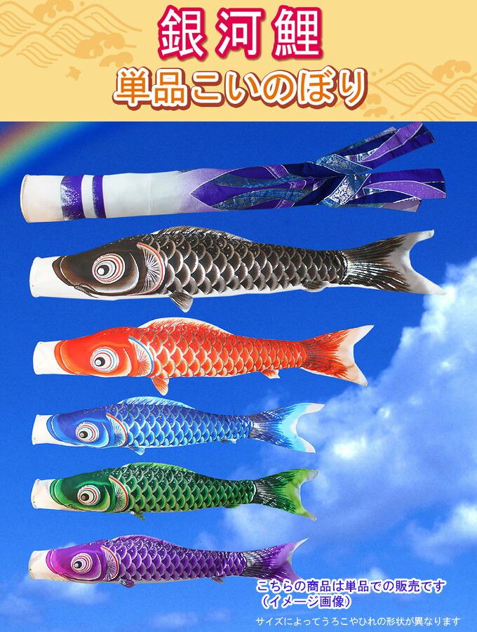 こいのぼり 単品鯉のぼり 銀河鯉