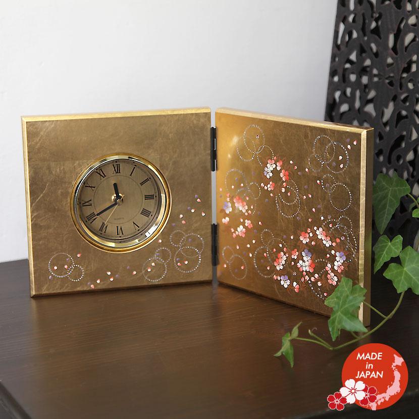 漆工芸 時計 蒔絵 おみやげ 日本製