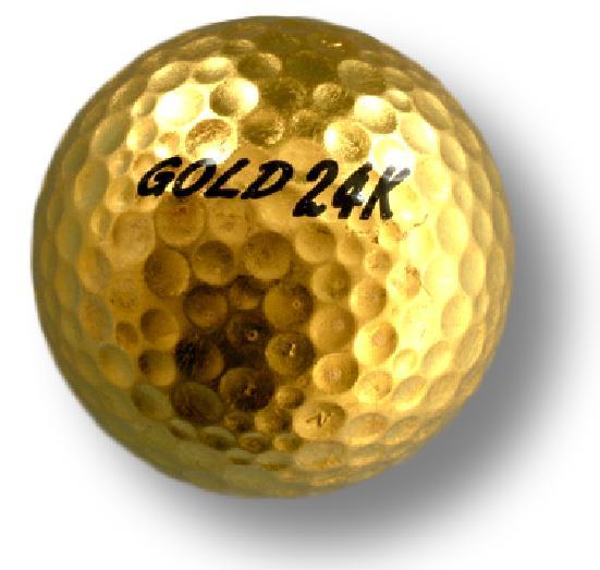 純金箔ゴルフボール