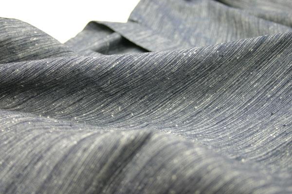 紳士久留米織作務衣(綿100%紬節織り作務衣)生地詳細