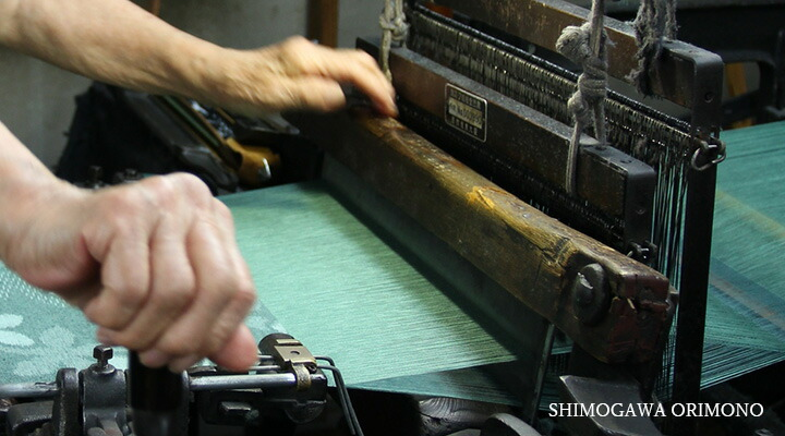 久留米絣ストールの織り