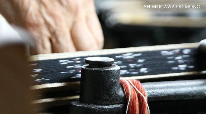 久留米絣ストールの職人技