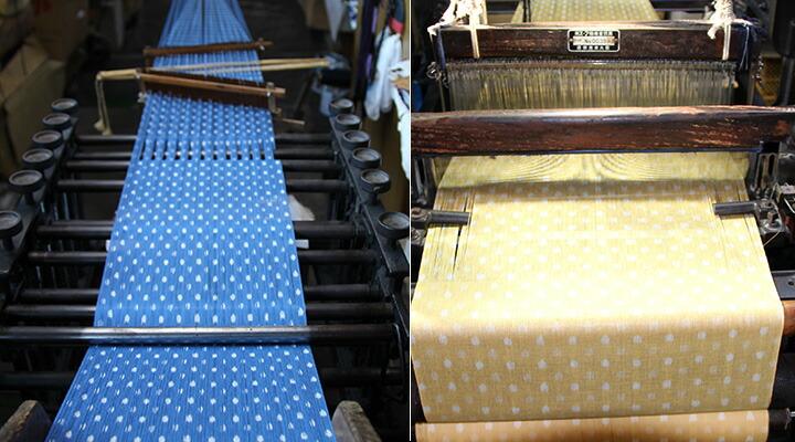 久留米絣の織り