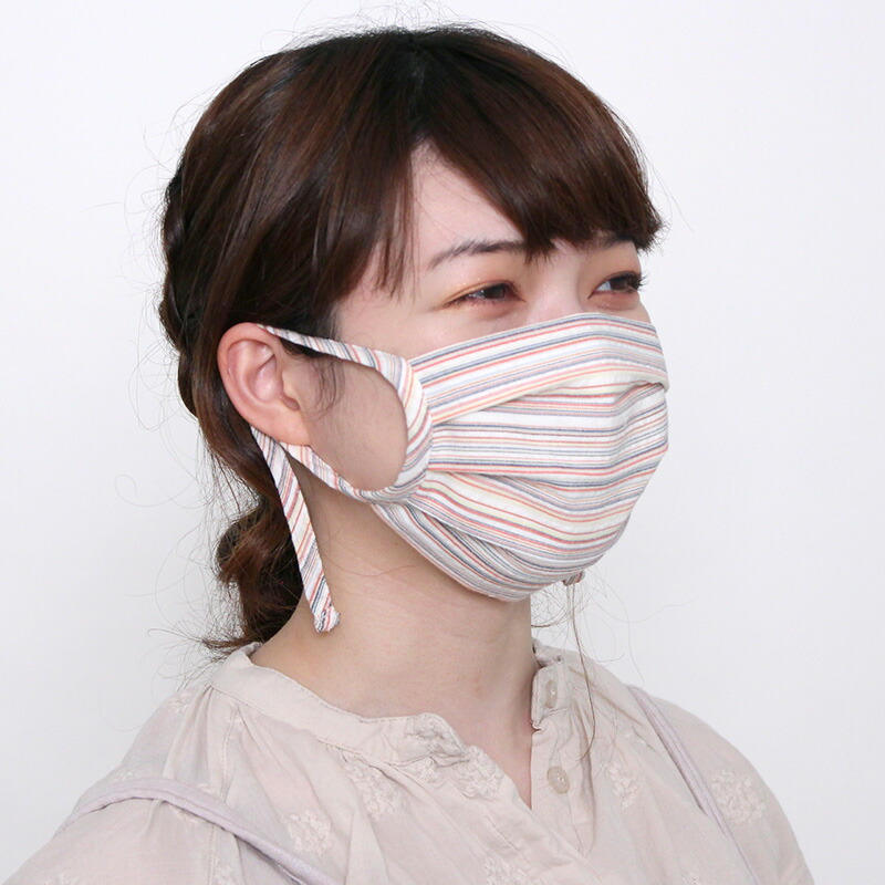 プリーツ布マスクの写真