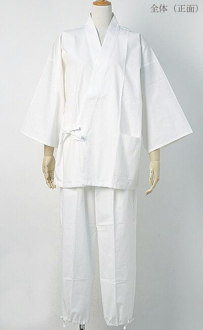 作務衣(さむえ)新文人織り【日本製】 全体(正面)写真