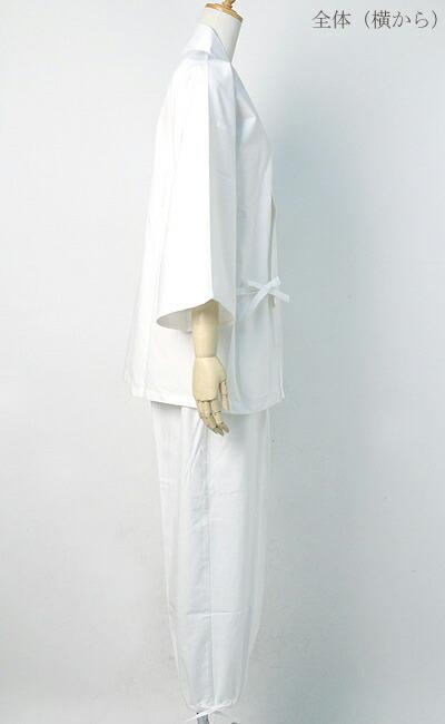 作務衣(さむえ)新文人織り【日本製】 全体(横から)写真