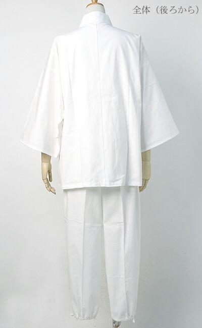 作務衣(さむえ)新文人織り【日本製】文人柄 全体(後ろ)写真