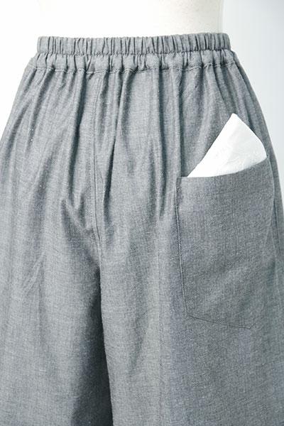 甚平(じんべい)ちぢみ織り・無地 衿元 後ろポケット