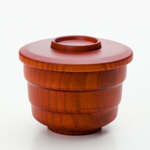 天然木製 京型 スープカップ木目 漆塗り