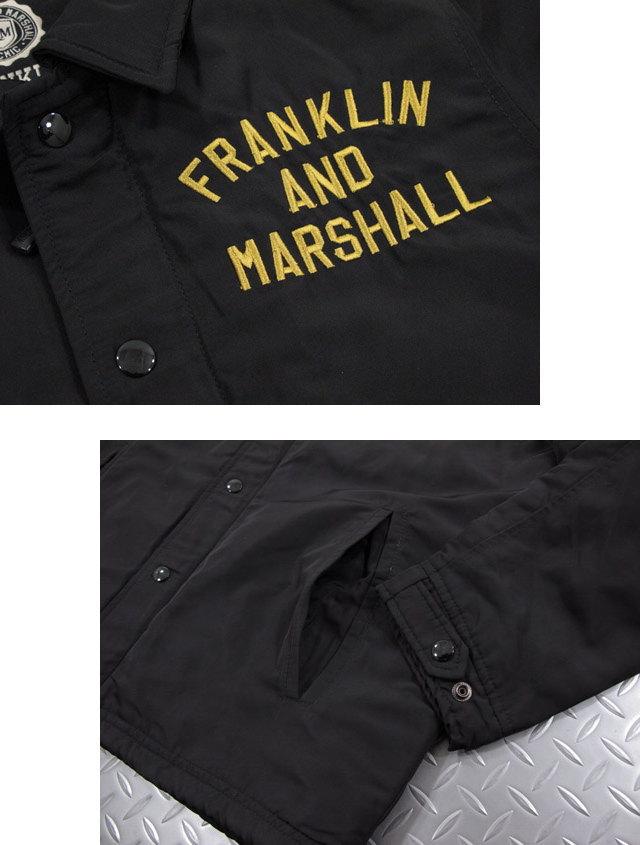 コーディネイトに困らないユーティリティ・ジャケット★FRANKLIN&MARSHALL,フランクリンアンドマーシャル,NYLON JACKET,NYLON COACH JACKET,コーチジャケット,ナイロン ウィンドブレーカー,#JKMF135ANW17,BLACK(ブラック)