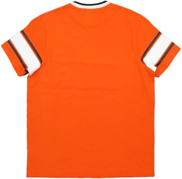 フランクリンと言えばコレ★アメカジテイスト満点のナンバーリングTシャツ,FRANKLIN&MARSHALL,フランクリンアンドマーシャル,TSHIRT JERSEY ROUND NECK SHORT,ナンバーリングプリント入り、半袖Tシャツ,カットソー,#TSMF339ANS19,FLAME ORANGE(フレームオレンジ)