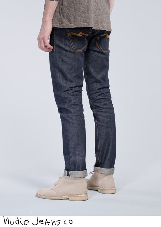 Nudie Jeans co,ヌーディージーンズ,GRIM TIM,グリムティム,straight slim fit with normal rise, DRY SELVAGE,ドライ セルヴィッチ