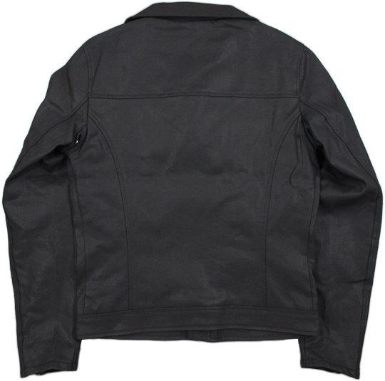 艶々ブラックの、デニムライダースジャケット★Nudie Jeans co,ヌーディージーンズ,SIXTEN, PUNK JACKET,コーティングブラックデニム、ライダースジャケット,BLACK(ブラック)