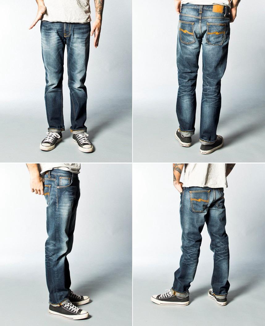 ストレートシルエットを基調に脚のラインを長〜く、美しく魅せる、大人系モデル★☆★Nudie Jeans co, (ヌーディージーンズ),STRAIGHT ALF,(ストレートアルフ),ORG. INDIGO DEPTH,(オーガニック、インディゴ・デプス)