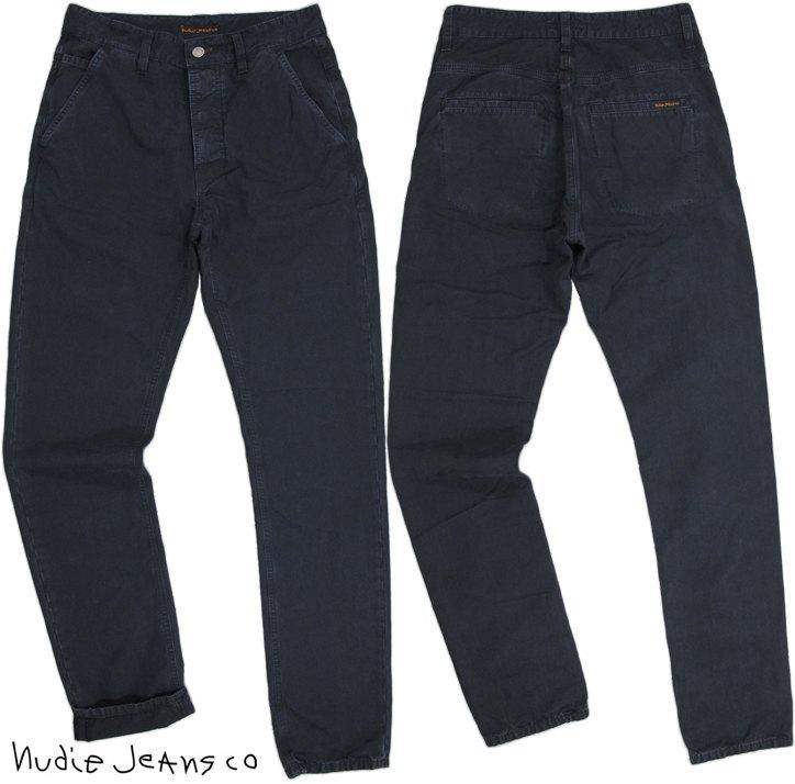 キレイめカジュアルにピッタリはまる★インクブルーのネイビーチノパン!Nudie Jeans co,ヌーディージーンズ,TAPE NICK,テープニック,Regular fit,Button fly, INK BLUE(インクブルー)