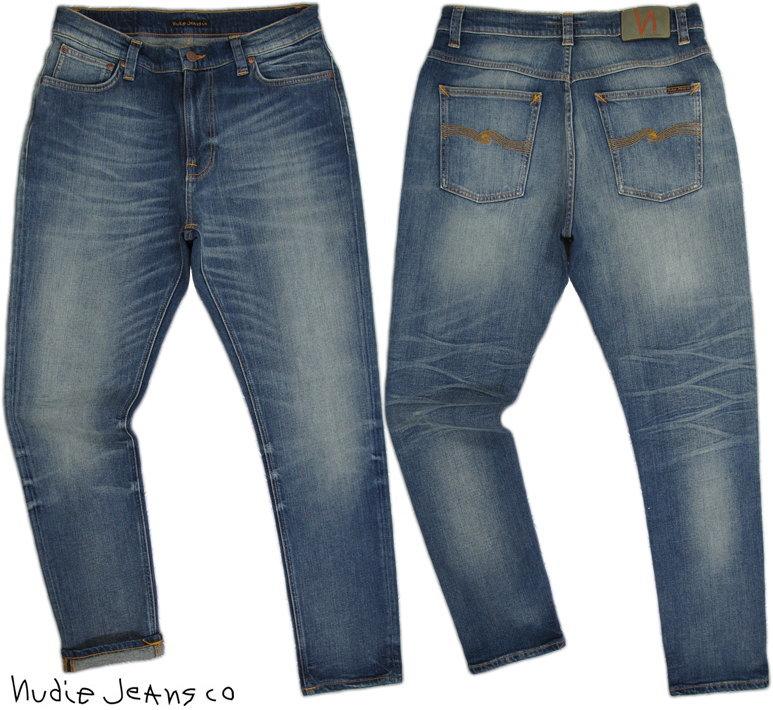 ゆとりのあるオシャレなシルエット★ロールアップして穿きたい、BRUTE KNUT/ブルートクヌート,Nudie Jeans co,ヌーディージーンズ,BRUTE KNUT,ブルートクヌート,DAKOTA BLUE,ダコタブルー,ストレッチ テーパード ジーンズ,デニムパンツ,アンクルパンツ