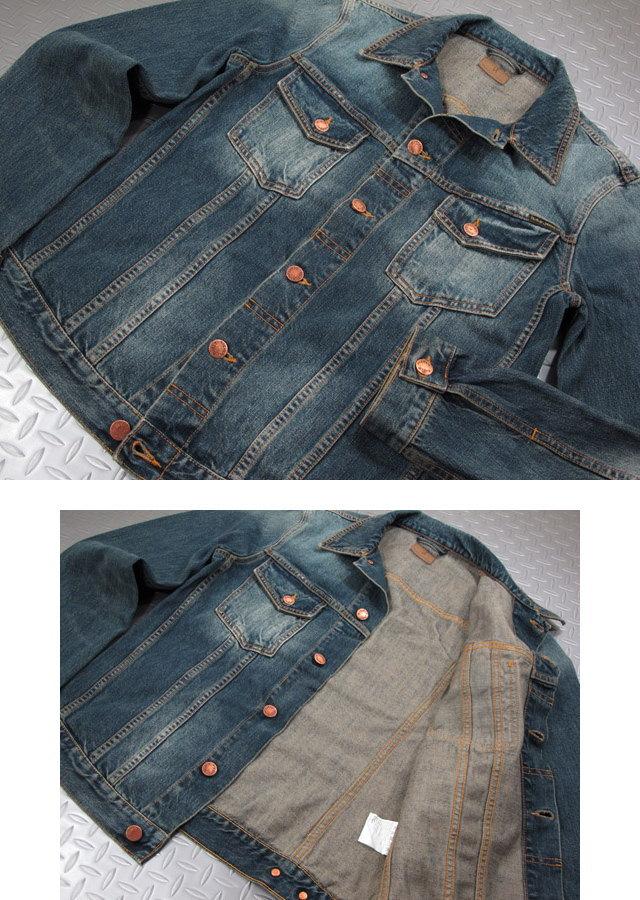 """LEVI'Sのサードをモチーフにしたスタイリッシュモデル★NudieJeans""""味だし""""デニムジャケット。Nudie Jeans co,ヌーディージーンズ,BILLY,ビリー,BLUE FRIEND DENIM,ブルーフレンドデニム,デニムジャケット,ジージャン,Gジャン"""
