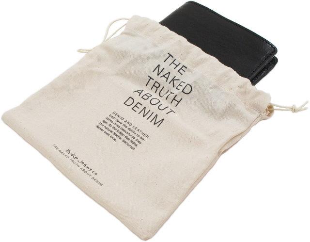 """使い込むほどに""""味""""がでる★エンボスロゴ入りウォレット。Nudie Jeans co,ヌーディージーンズ,CALLESSON, LEATHER WALLET,レザーウォレット,二つ折り財布,BLACK(ブラック)"""