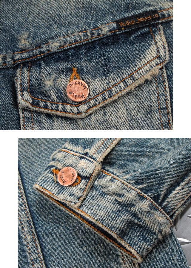 Gジャンの完成形〜LEVI'Sのサードをモチーフにしたスタイリッシュモデル★Nudie Jeans co,ヌーディージーンズ,BILLY,ビリー,SHIMMERING INDIGO DENIM,シマリング インディゴデニム,デニムジャケット,ジージャン,Gジャン・デニジャケ