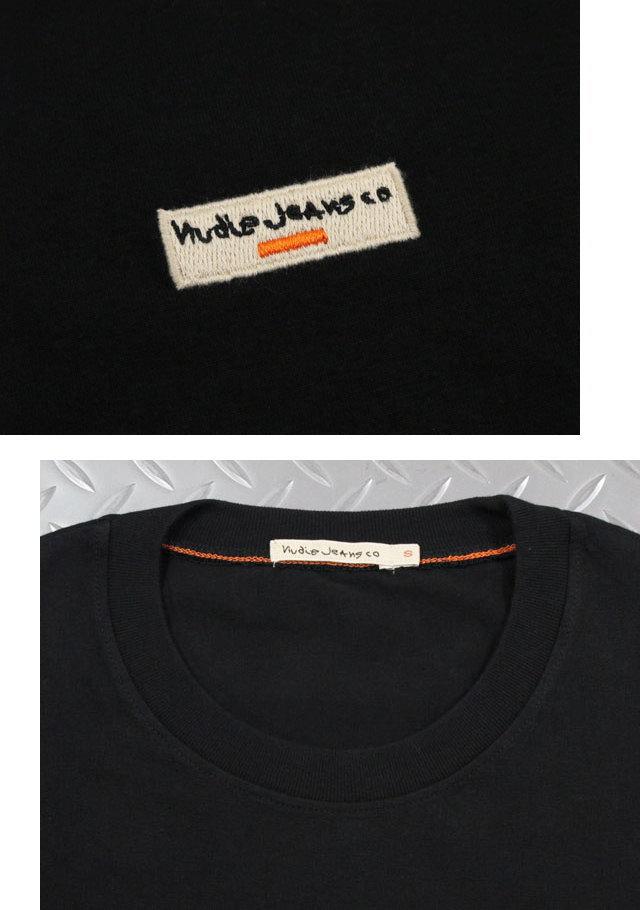 ヨーロピアンテイストの効いた雰囲気が◎雰囲気抜群のヌーディーのワンポイントTシャツ★Nudie Jeans co,ヌーディージーンズ,DANIEL, LOGO TEE,ワンポイント刺繍ロゴ入り、半袖Tシャツ,ワンポイントTEE,