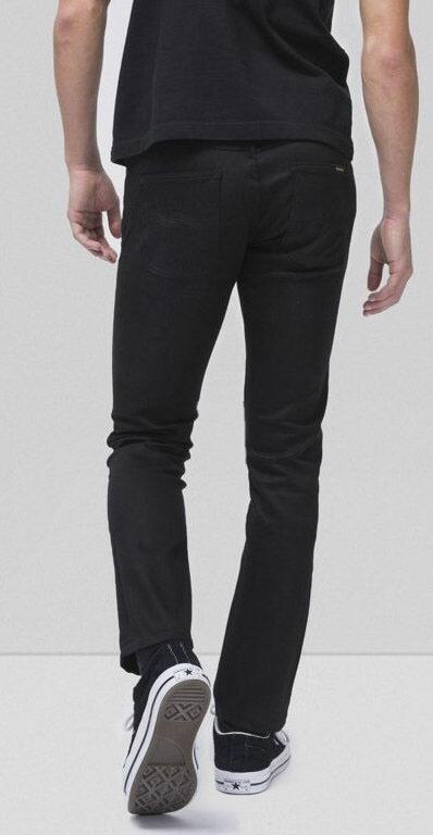 綺麗なテーパードラインが特徴★GRIM TIM/グリムティムのブラックジーンズ,Nudie Jeans co,ヌーディージーンズ,GRIM TIM,グリムティム,DRY EVER BLACK,ドライ エバー ブラック,12oz. comfort stretch denim,ストレッチ・ブラックデニム,ブラックジーンズ