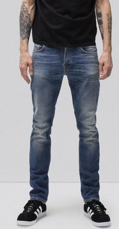 綺麗なテーパードラインが特徴★GRIM TIM/グリムティムの味だしジーンズ★Nudie Jeans co,ヌーディージーンズ,GRIM TIM,グリムティム,CONJUNCTIONS,コンジャクションズ,12oz. comfort stretch denim,ボタンフライ スリムストレートフィット,ストレッチ・ジーンズ