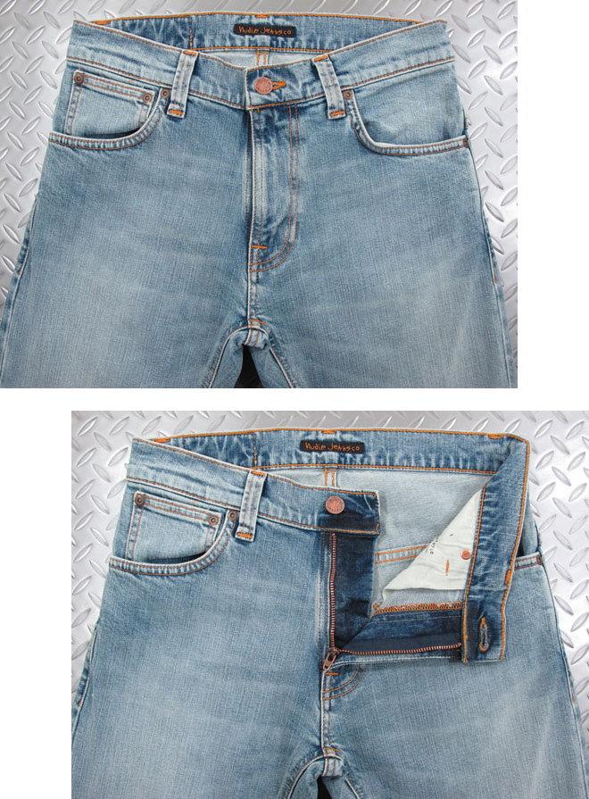 50'sの「キャロットシェイプ」に影響を受けた モダンシルエットの薄淡青カラー,Nudie Jeans co,ヌーディージーンズ,THIN FINN,シンフィン, LIGHT BLUE COMFORT,ライトブルーコンフォート,スキニージーンズ,デニムパンツ