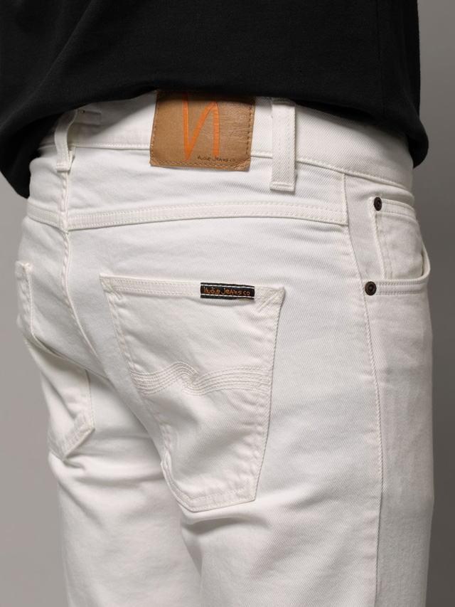 Nudie Jeans co,ヌーディージーンズ,LEAN DEAN,リーンディーン,OFF WHITE(オフホワイト),12.7oz. comfort stretch denim,ストレッチ・スキニーホワイトデニムパンツ/白デニム