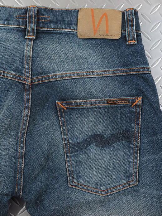 Nudie Jeans co,ヌーディージーンズ,THIN FINN,シンフィン,TIGHT FIT, NORMAL WAIST, LOW YOKE, NARROW LEG, OPENING ZIP FLY,BLUE TEMPLE,ブルーテンプル