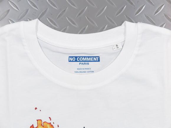NO COMMENT PARIS,ノーコメントパリ,BURNING HEMP/T-SHIRT,半袖プリントTシャツ,カットソー,WHITE(ホワイト)