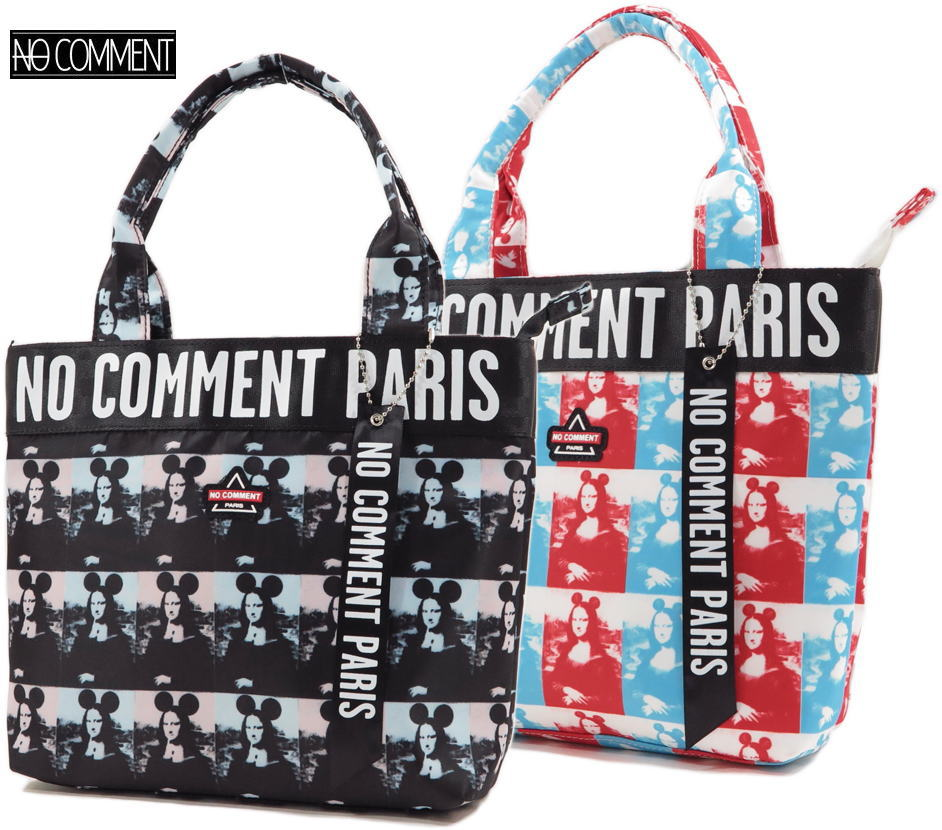 エッジの効いた先鋭的なアーティスティックなプリントが話題★ ノーコメントパリのトートバッグ