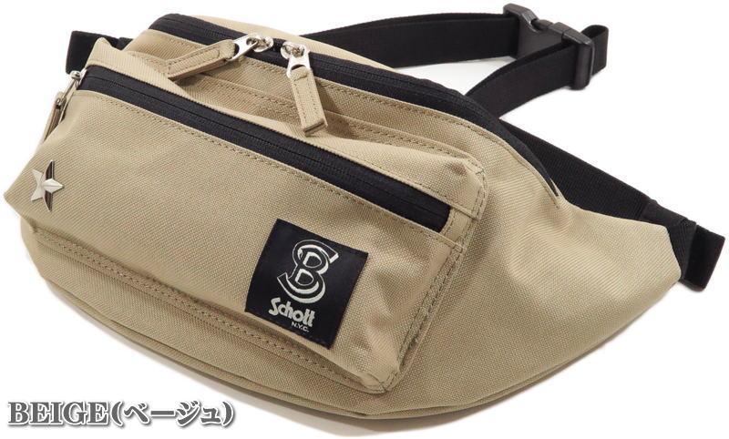 Schott,ショット,BODY BAG,ボディーバッグ、ウエストバッグ、ヒップバッグ,3119052