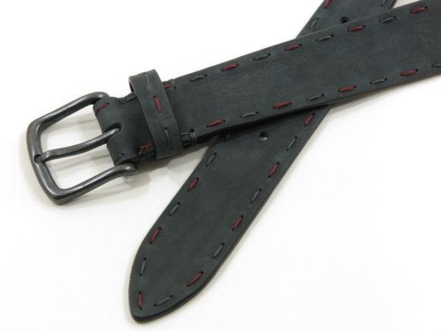 POST&CO,ポストアンドコー,Leather Belt,レザーベルト,Art:8021, NERO(ブラック)