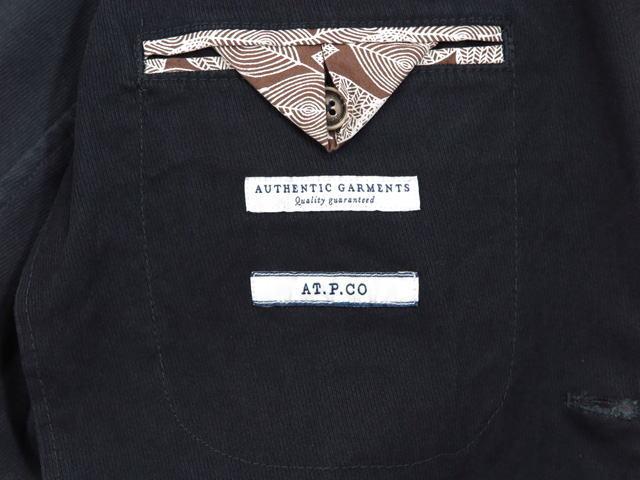 AT.P.CO,アティピコ,A212ALAN60,ストレッチ コットン×レーヨン、テーラードジャケット,ブレザー,NAVY(ネイビー)