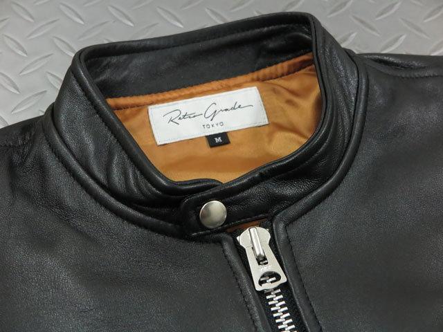 肩肘張らずにカーディガン感覚で着られちゃう★シープスキンのライダースジャケット。Retro Grade TOKYO,レトログレード トーキョー,Art.8591035, SINGLE RIDERS,シングルライダースジャケット,レザージャケット,BLACK(ブラック)