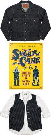 東洋エンタープライズ社のブランド、SUGAR CANE(シュガーケーン)は、そのワークウェアの黄金期ともいえる1900年代から1950年代に織られた生地を糸の形状、染め、織りにこだわり、年代別に徹底的に分析し、研究し続けていおり、その分析を基に特別に開発しり、再生させた生地をスタイル別に使い分けています。
