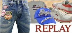 イタリアのトータル・ジーニング・ブランド、REPLAY(リプレイ)。1981年にイタリア北部トレビゾ州アゾロにて創設され、ヨーロッパのジーンズを中心としたライフスタイル提案型ブランドの草分け的存在として、幅広い支持を得ています。