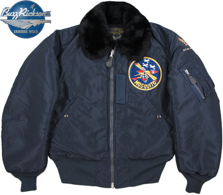 "Type B-15シリーズフライトジャケットの3代目★エアフォースブルーのMOSQUITOパッチの衿ボア付きB-15C◆◇◆BUZZ RICKSON'S,バズリクソンズ,Jacket, Flying, Intermediate Type B-15C, B.RICKSON & SONS INC. 1951 MODEL, 6147th Tactical Control Squadron""Mosquitoes""Type B-15C A.F.Blue,Lot/BR12881,B-15Cモスキートパッチフライトジャケット"
