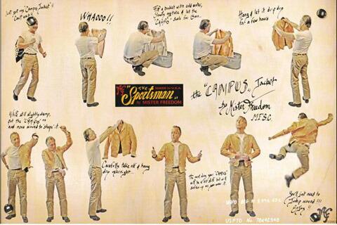 """1930年代に流行したスタイルのレザージャケットがベース★MFSC(Sportsman),Mister Freedom×Sugar Cane,ミスターフリーダム×シュガーケーン,Made in U.S.A.,COWHIDE LEATHER CAMPUS JACKET,ミスターフリーダム""""スポーツマン""""米国製キャンパスレザージャケット,BROWN(ブラウン)/SC80407"""