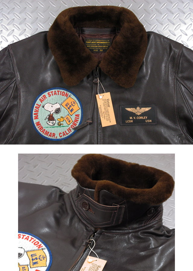 "スヌーピーのローカルメイド・スコードロンパッチが目を惹く★BUZZ RICKSON'S,バズリクソンズ,Jacket, Flying, Intermediate, TYPE G-1, MIL-J-7823 ""BUZZ RICKSON SPORTSWEAR"",LACQUER FINISHED, SNOOPY PATCH,BR80425"