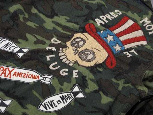 """テーラー東洋とのコラボレーションアイテム★MFSC(SAIGON COWBOY)Mister Freedom×TAILOR TOYO,ミスターフリーダム×テーラー東洋,10oz.DENIM×ERDL CAMO VIET-NAM""""PARTY""""JACKET,10オンスデニム×カモフラージュ、「ベトジャン」リバーシブルジャケット,421/ONE WASH(ワンウォッシュ),SC13284"""