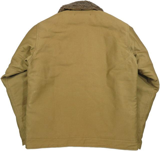 "BUZZ RICKSON'S,バズリクソンズ,Jacket, Deck, Zip, Type N-1 KHAKI,""NAVAL CLOTHING DEPOT"",DEMOTEX-ED, N-1デッキジャケット,N-1デモテックス実名ラベルバージョン,KHAKI(カーキ),BR12032"