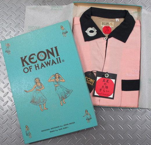 """アロハをこよなく愛する著名人のデザインによる、KEONIシリーズの最新作! KEONI OF HAWAII,ケオニオブハワイ,""""真夏の太陽ぎらい"""" by 緑川ミラノ,PINK(ピンク)/SS37332"""