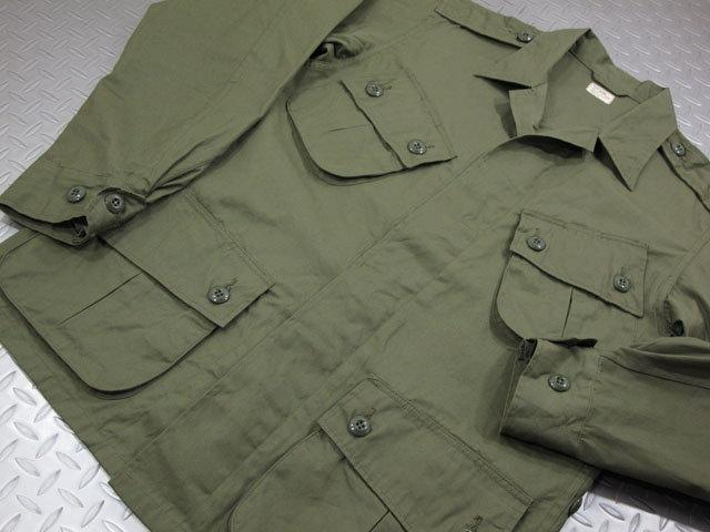 本物だけが持つ 独特の雰囲気が堪らない♪バズリクソンズの熱帯戦闘服★トロピカルコンバットジャケット。BUZZ RICKSON'S,バズリクソンズ,COAT,MAN'S,COMBAT TROPICAL,トロピカルコンバットジャケット,149 OLIVE(オリーブ),Lot/BR12247
