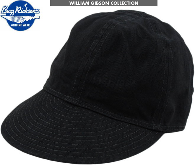 """本物だけが持つ、独特の雰囲気が堪らない!BUZZ RICKSON'S,バズリクソンズ,BLACK ARMY CAP,""""William Gibson Collection"""",ウィリアム・ギブソン コレクション、ブラック アーミーキャップ,BLACK(ブラック),BR02519"""