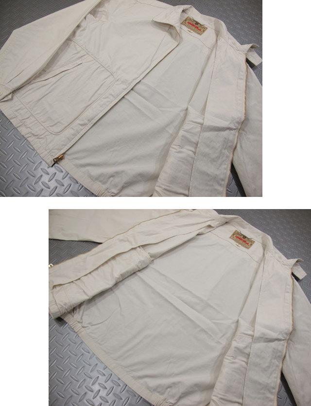 機能的な伝統的ディテールが魅機能的な伝統的ディテールが魅力★シュガーケーンのコットン スウィングトップ・ジャケット。SUGAR CANE,シュガーケーン,COTTON SPORT JACKET,コットンスポーツジャケット,スウィングトップ,SC14065,OFF WHITE(オフホワイト)