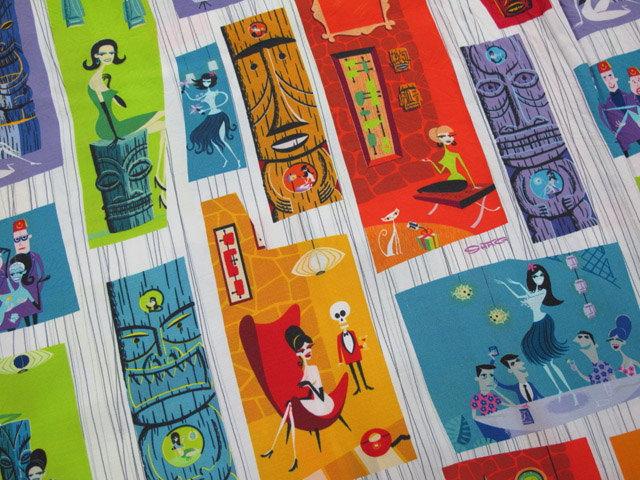 """アメリカのモダンアートシーンを代表する画家、シャグ氏に依頼★KEONI OF HAWAII,ケオニオブハワイ,""""TIKI PARADISE"""" by SHAG,ティキ・パラダイスbyシャグ,WHITE(ホワイト),SS37654"""