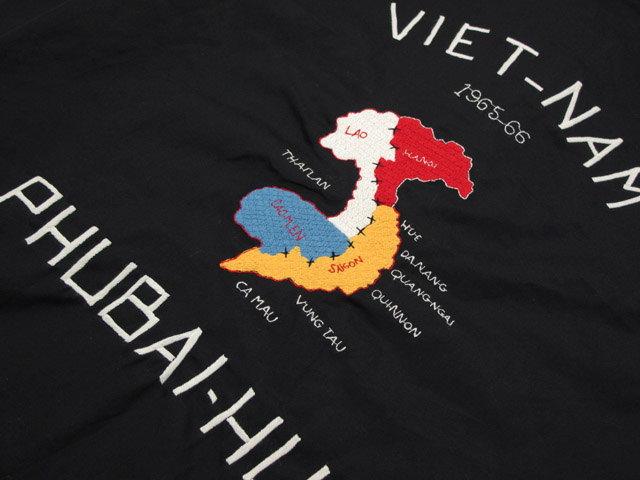 """本物のスカジャンをお探しなら、迷わずコレ!TAILOR TOYO,テーラートーヨー,COTTON VIETNAM JACKET""""VIETNAM MAP"""",コットンベトジャン,スカジャン,BLACK(ブラック),TT13761"""