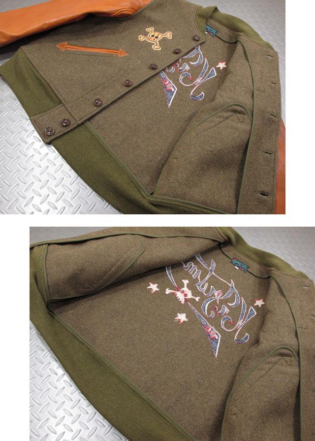 """1930〜40年代のアワードジャケットと U.S.ARMYのミリタリージャケットがベース,MFSC SURPLUS,ミスターフリーダムサープラス,""""MF HEADQUARTERS"""",アワードジャケット,スタジャン,149/OLIVE(オリーブ),SC14242"""
