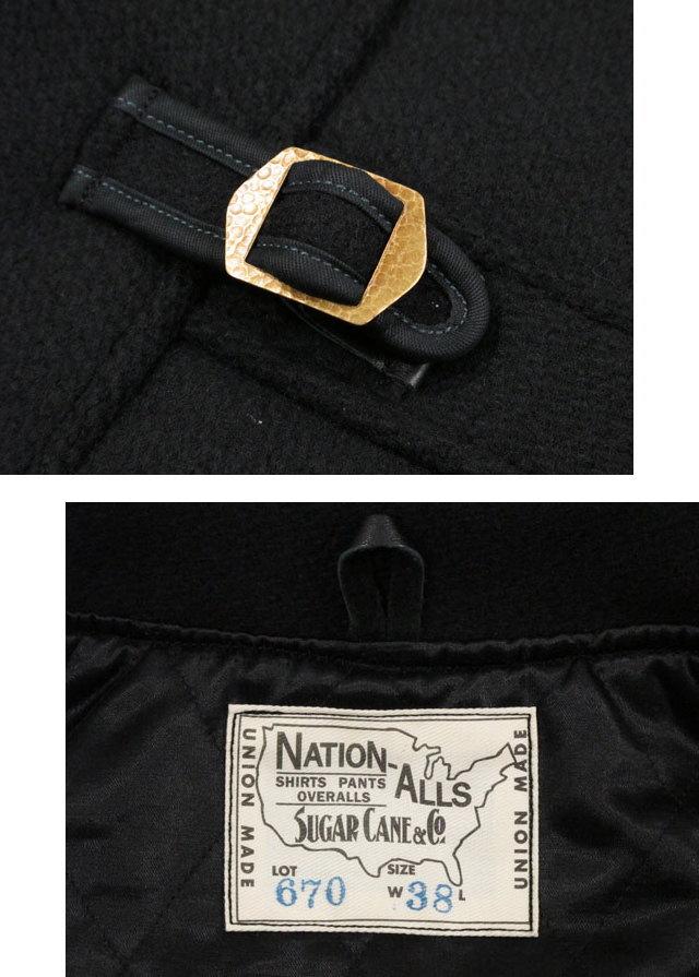 ディテールは1930〜40年代のヴィンテージがベース★SUGAR CANE,シュガーケーン,30oz. WOOL MELTON SPORTS JACKET,ウールメルトン スポーツジャケット,BLACK(ブラック),SC13670